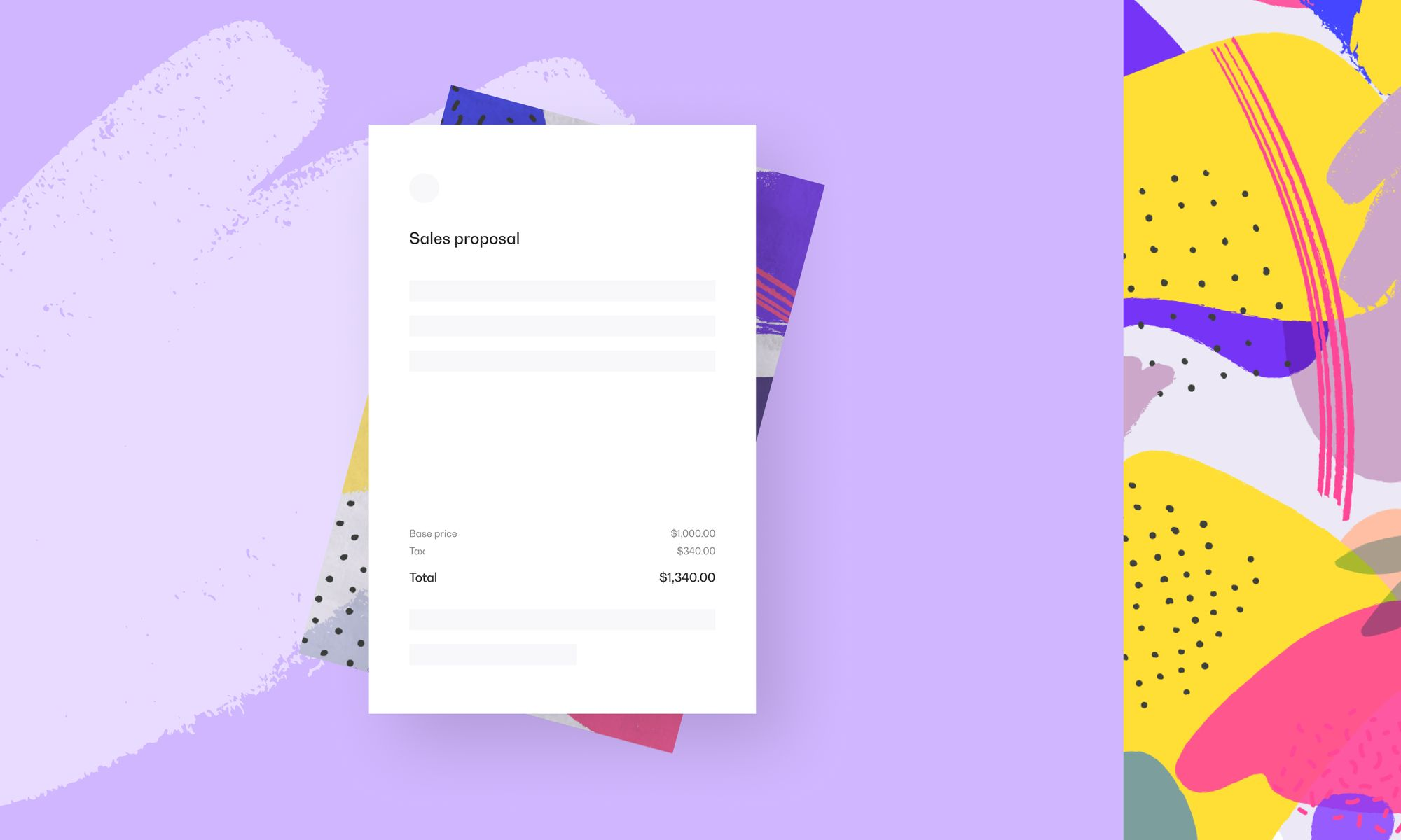 Create your first proposal in Propoze