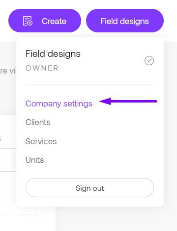 Company settings in Propoze